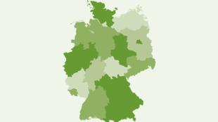 Referenzkarte mit JOB&FIT-Betriebsrestaurants in Deutschland