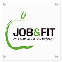 Logo-Schild JOB&FIT-Zertifizierung,  Quelle: DGE