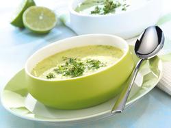 Kressesuppe mit Limette