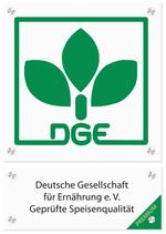 Logo-Schild Premium Zertifizierung für Caterer, Quelle DGE