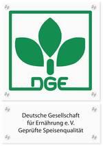 Logo-Schild für Catererzertifizierung, Quelle:DGE